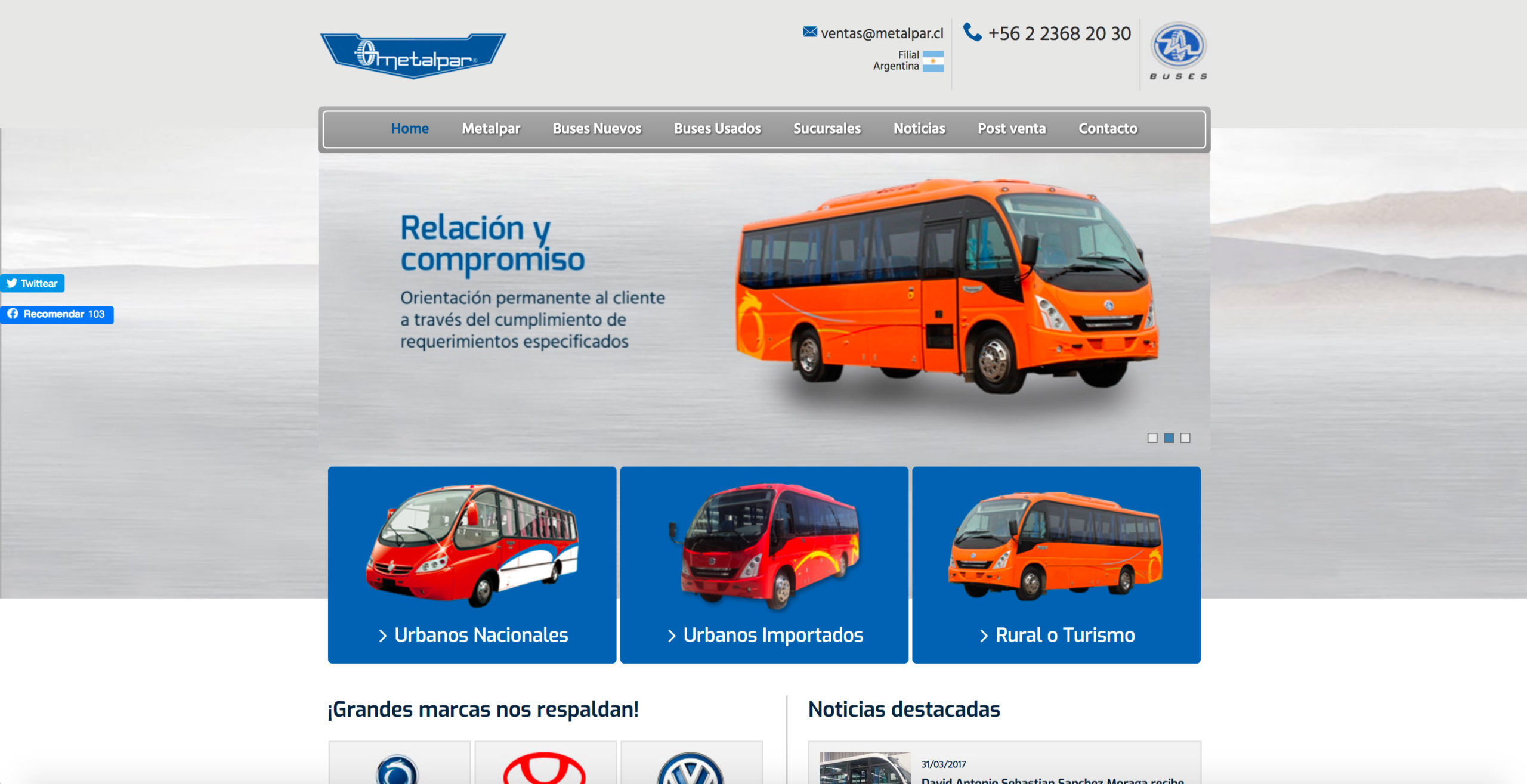 Venta de buses nuevos en Chile